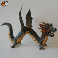 Fantasy Sculpture of Dragon